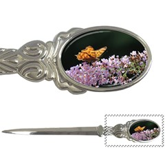 Butterfly sitting on flowers Letter Openers by picsaspassion