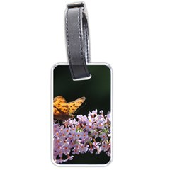 Butterfly Sitting On Flowers Luggage Tags (one Side)  by picsaspassion