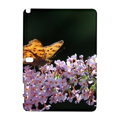 Butterfly Sitting On Flowers Samsung Galaxy Note 10 1 (p600) Hardshell Case by picsaspassion