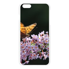 Butterfly sitting on flowers Apple Seamless iPhone 6 Plus/6S Plus Case (Transparent)