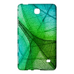 Sunlight Filtering Through Transparent Leaves Green Blue Samsung Galaxy Tab 4 (8 ) Hardshell Case  by Zeze