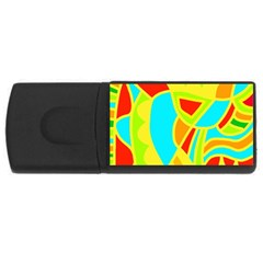 Colorful Decor Usb Flash Drive Rectangular (4 Gb)  by Valentinaart