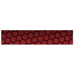 Ombre Black And Red Passion Floral Pattern Flano Scarf (small) by DanaeStudio
