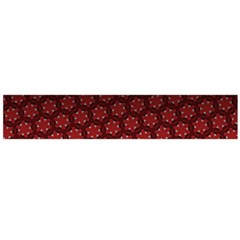Ombre Black And Red Passion Floral Pattern Flano Scarf (large)