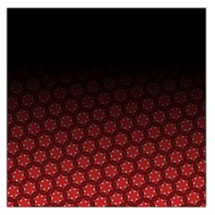 Ombre Black And Red Passion Floral Pattern Large Satin Scarf (square)