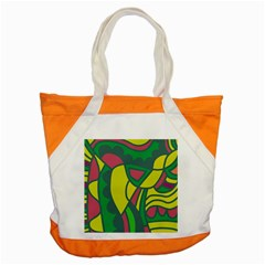 Green Abstract Decor Accent Tote Bag by Valentinaart