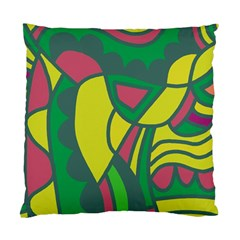 Green Abstract Decor Standard Cushion Case (one Side) by Valentinaart