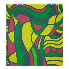 Green Abstract Decor Shower Curtain 66  X 72  (large)  by Valentinaart