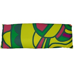 Green Abstract Decor Body Pillow Case (dakimakura)