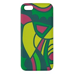 Green Abstract Decor Iphone 5s/ Se Premium Hardshell Case by Valentinaart