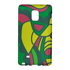 Green Abstract Decor Galaxy Note Edge by Valentinaart