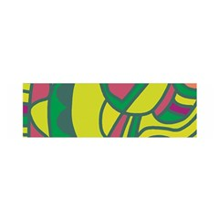 Green Abstract Decor Satin Scarf (oblong) by Valentinaart