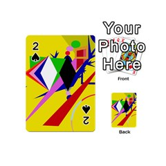 Yellow Abstraction Playing Cards 54 (mini)  by Valentinaart
