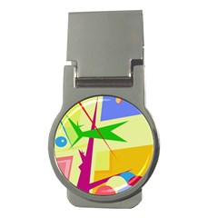 Colorful abstract art Money Clips (Round)