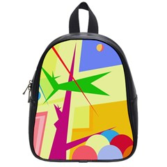 Colorful Abstract Art School Bags (small)  by Valentinaart