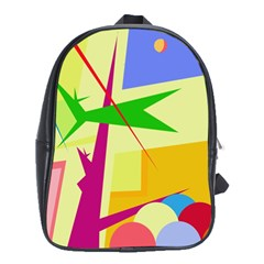 Colorful Abstract Art School Bags (xl)  by Valentinaart