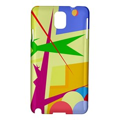 Colorful Abstract Art Samsung Galaxy Note 3 N9005 Hardshell Case by Valentinaart