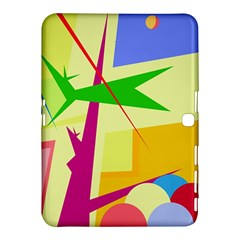 Colorful Abstract Art Samsung Galaxy Tab 4 (10 1 ) Hardshell Case  by Valentinaart