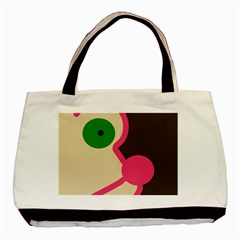 Dog Face Basic Tote Bag (two Sides) by Valentinaart
