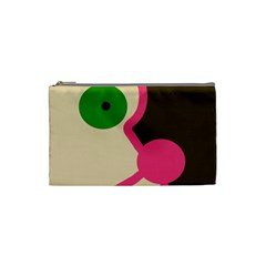 Dog Face Cosmetic Bag (small)  by Valentinaart
