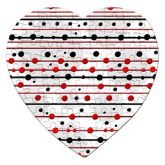 Dots And Lines Jigsaw Puzzle (heart) by Valentinaart
