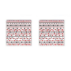 Dots And Lines Cufflinks (square) by Valentinaart
