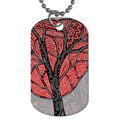 Decorative Tree 1 Dog Tag (two Sides) by Valentinaart