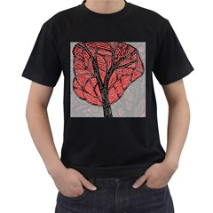 Decorative Tree 1 Men s T Shirt (black) by Valentinaart
