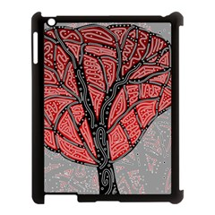 Decorative Tree 1 Apple Ipad 3/4 Case (black) by Valentinaart