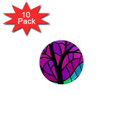 Decorative Tree 2 1  Mini Magnet (10 Pack)  by Valentinaart