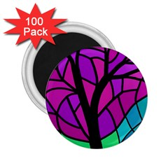 Decorative Tree 2 2 25  Magnets (100 Pack)  by Valentinaart