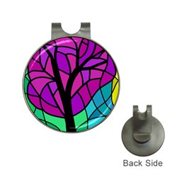Decorative Tree 2 Hat Clips With Golf Markers by Valentinaart