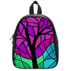 Decorative Tree 2 School Bags (small)  by Valentinaart