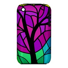 Decorative tree 2 Apple iPhone 3G/3GS Hardshell Case (PC+Silicone) by Valentinaart