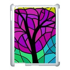 Decorative Tree 2 Apple Ipad 3/4 Case (white) by Valentinaart