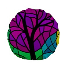 Decorative Tree 2 Standard 15  Premium Flano Round Cushions by Valentinaart