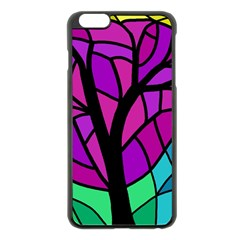 Decorative Tree 2 Apple Iphone 6 Plus/6s Plus Black Enamel Case