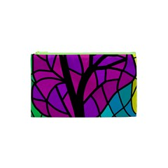 Decorative Tree 2 Cosmetic Bag (xs) by Valentinaart