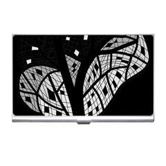 Black And White Tree Business Card Holders by Valentinaart