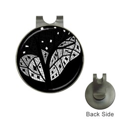 Black And White Tree Hat Clips With Golf Markers by Valentinaart
