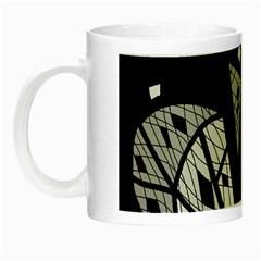 Black And White Tree Night Luminous Mugs by Valentinaart