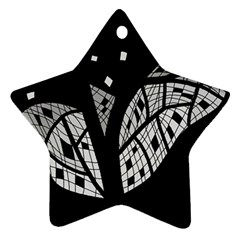 Black And White Tree Star Ornament (two Sides)  by Valentinaart