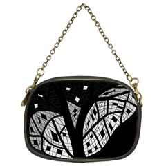 Black And White Tree Chain Purses (two Sides)  by Valentinaart