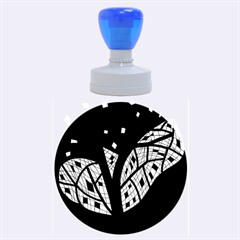 Black And White Tree Rubber Round Stamps (large)