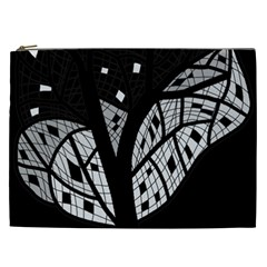 Black And White Tree Cosmetic Bag (xxl)  by Valentinaart