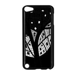 Black And White Tree Apple Ipod Touch 5 Case (black) by Valentinaart
