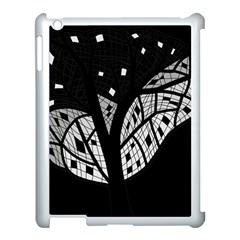 Black And White Tree Apple Ipad 3/4 Case (white) by Valentinaart