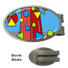 Crazy Building Money Clips (oval)  by Valentinaart