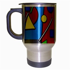 Crazy Building Travel Mug (silver Gray) by Valentinaart