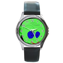 Alien By Moma Round Metal Watch by Valentinaart